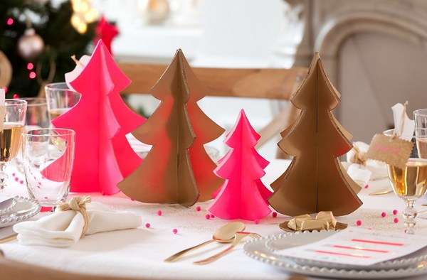 5 christmas table setting ideas in different styles - Deco table de noel fait maison ...