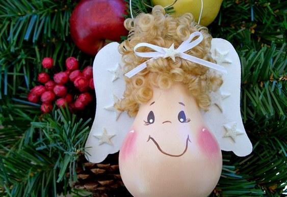 diy christmas ornaments light-bulbs-angel-cute-face-curly-fig