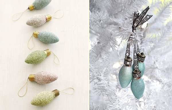 diy christmas ornaments light bulbs ideas - Christmas Bulb Decorations