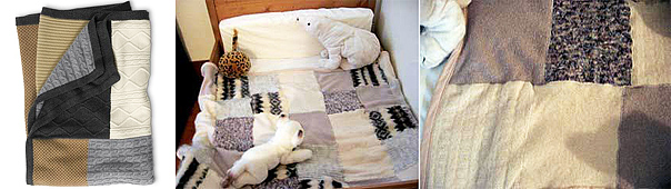 diy coverlet ideas winter blanket repurposing old sweaters