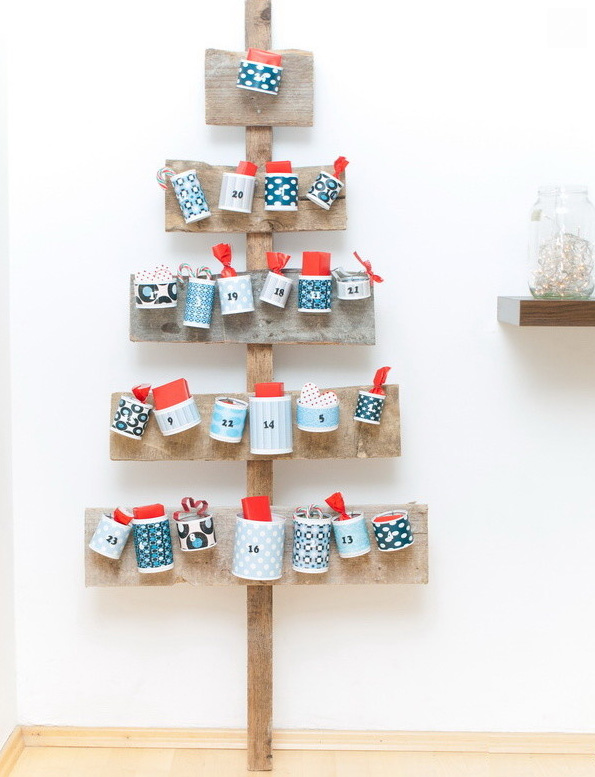gift cups arrangement christmas tree scandinavian christmas decorations - Different Christmas Decorations