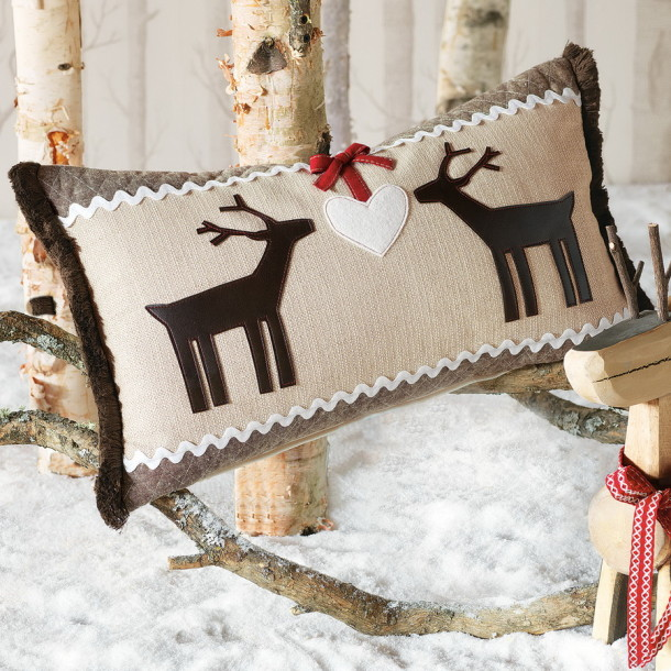 christmas decoration reindeer ornaments hand sewn pillowcase cozy christmas atmosphere