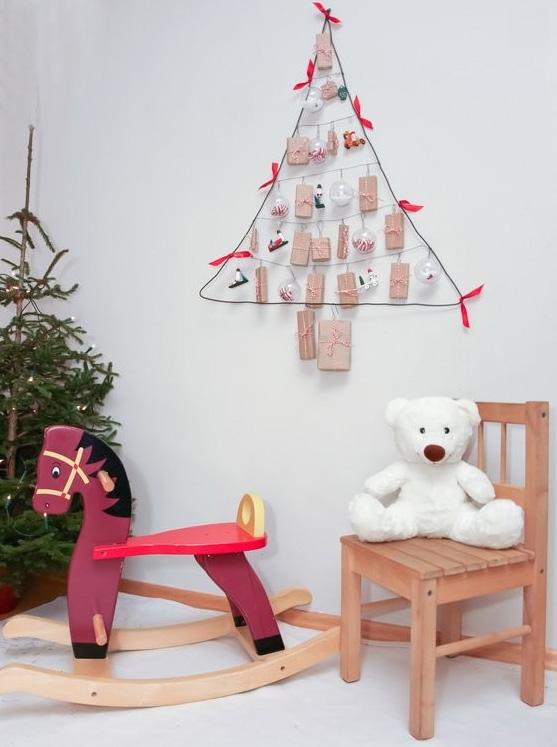 handmade wire christmas kids room festive scandinavian decoration