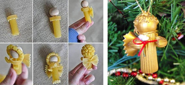 homemade-christmas-tree-ornaments-pasta-angels