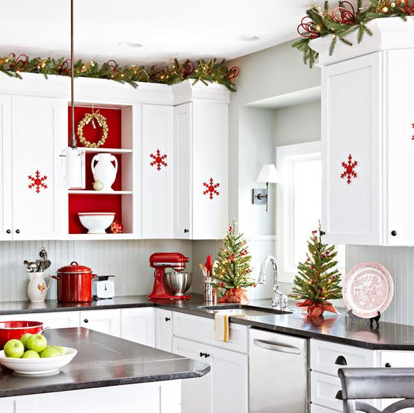 scandinavian christmas decorations decorative christmas trees red snowflakes