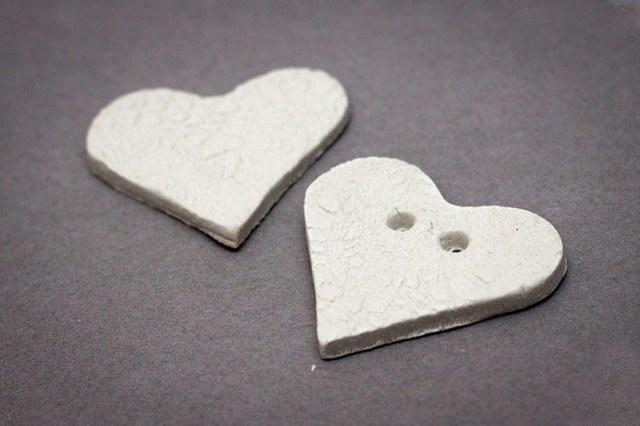 handmade polymer clay heart lace decoration kids craft idea