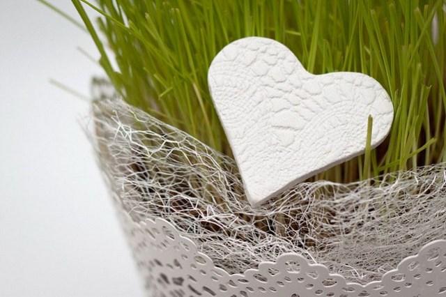 diy gift idea polymer clay heart flower pot decoration Valentine's day craft for kids
