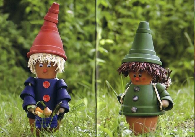 Terracotta Pots Garden Decorations Dwarfs