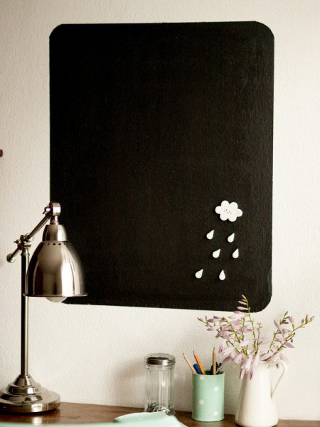 diy magnetic chalkboard - wall decor idea for kids room