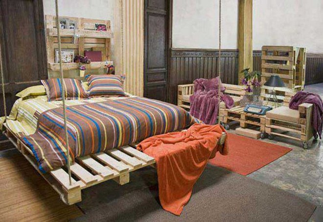diy pallet furniture ideas bedroom hanging bed sofa shelves bedroom furniture diy