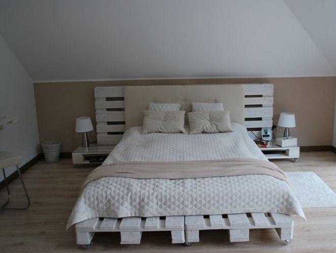 pallet bedroom furniture. diy pallet furniture ideas nedroom bed headboard night stands