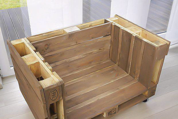 DIY pallet sofa tutorial-three-wooden-euro-pallets