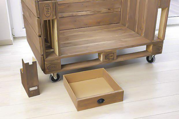 DIY pallet sofa tutorial-wooden-drawer-storage