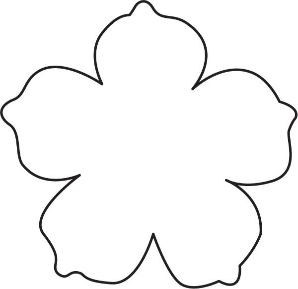 Flower Pattern Template Flower Cut Out Template