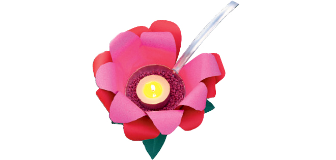 outdoor candle lanterns diy-ladle-tea-light-paper-flower