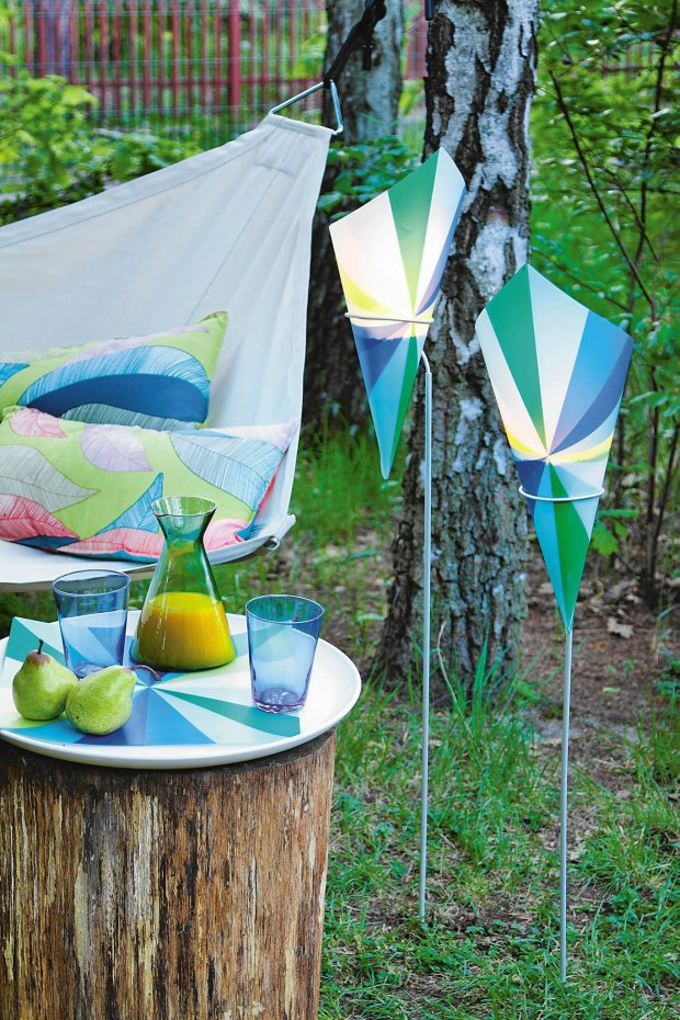 outdoor candle lanterns -stakes-plastic-cones
