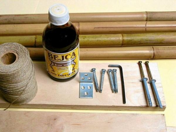 bamboo sticks bedroom design idea needed materials