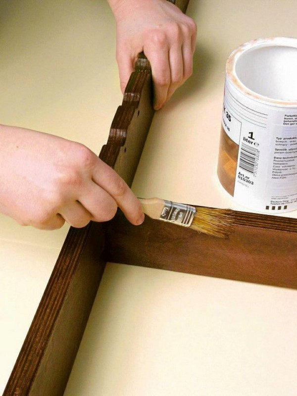 how to make wooden headboard base paint and varnish