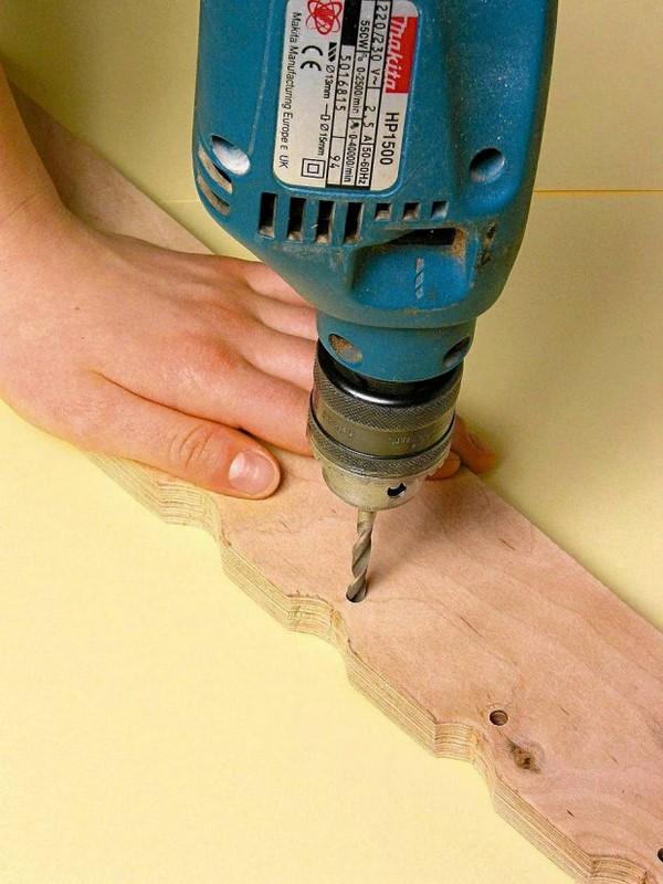 diy bedroom ideas drilling holes step by step tutorial