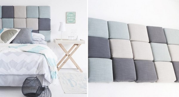 diy headboard ideas upholstered square pillows - Diy Backboard Bed