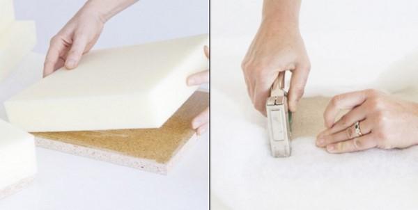 handmade square foam plywood bedroom design