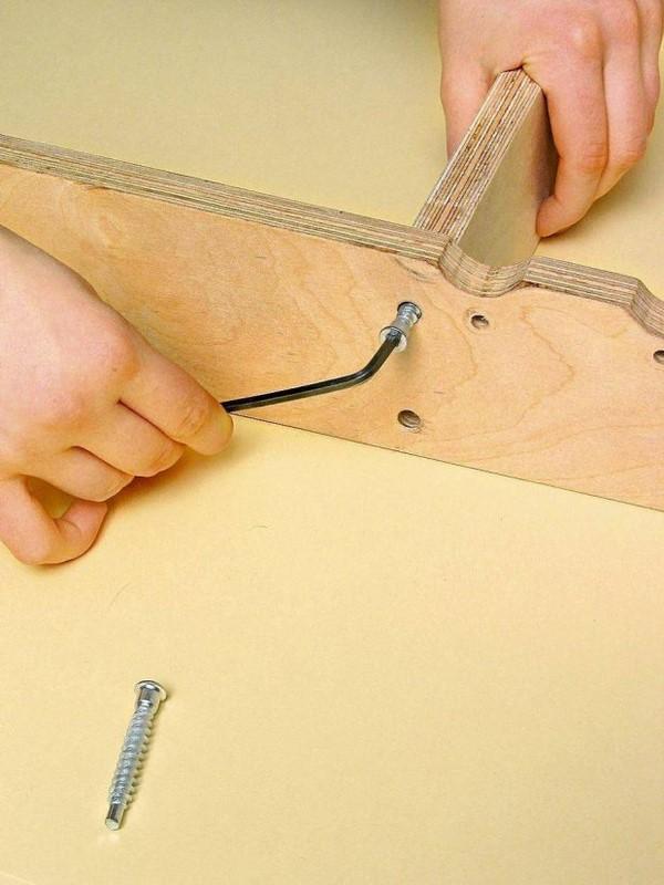 diy headboard ideas wooden base elements assembling