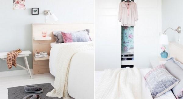 handmade bedroom interior wooden bed decor idea