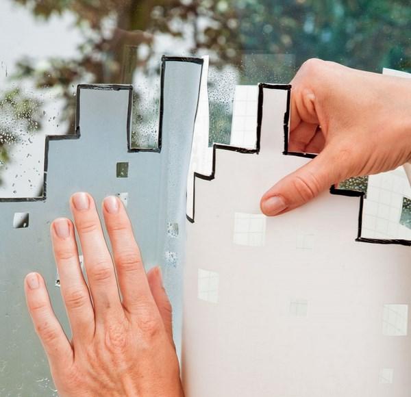 diy window treatment ideas decorative film for windows sun reflective glass decor idea