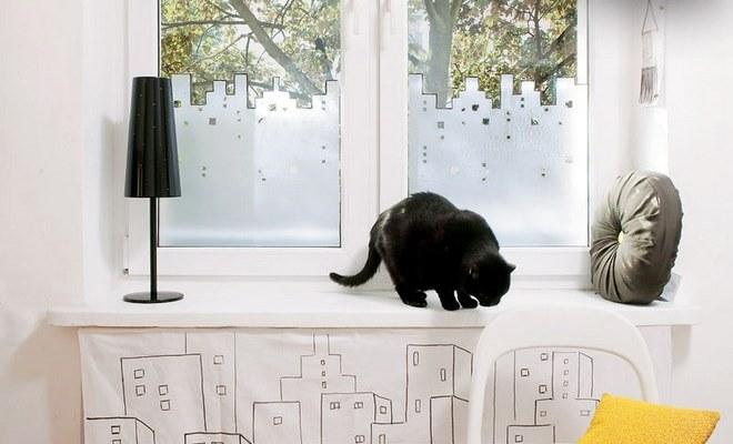 Diy Window Treatment Ideas Decorative Film Instead Of Curtain