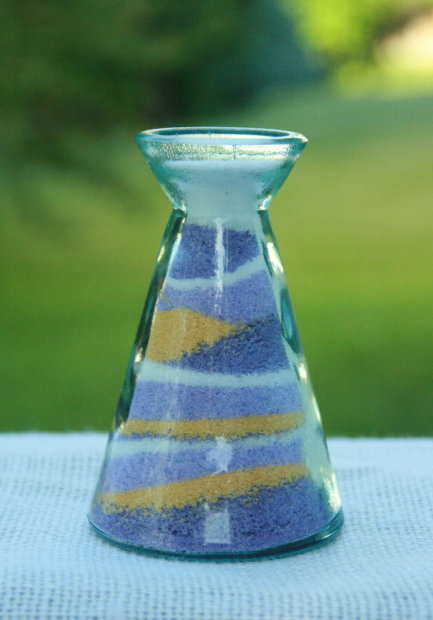 salt art decoration glass candle holders diy colored salt
