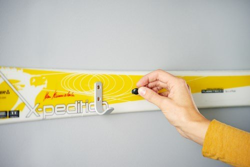 diy furniture reusing winter sport accessories attach skis
