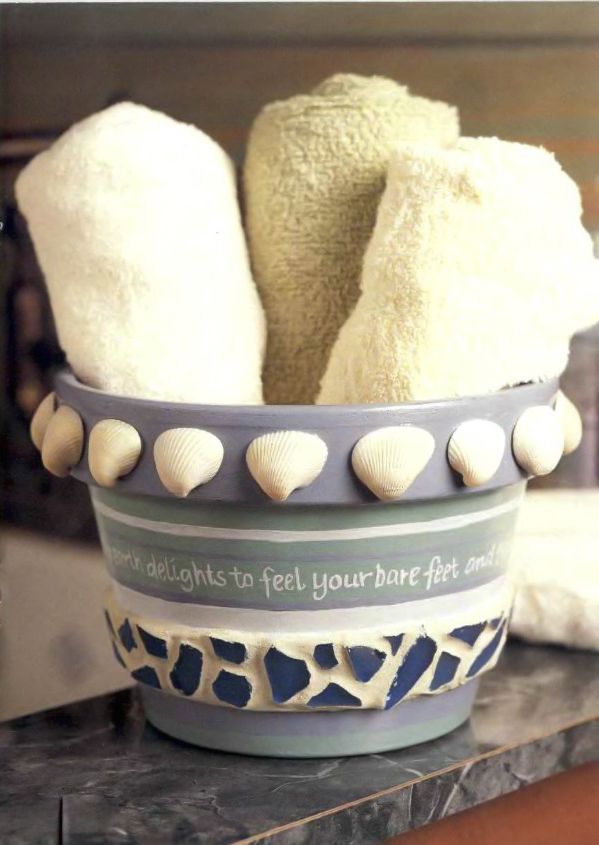 clay pot craft ideas bathroom-decor-sea-inspired