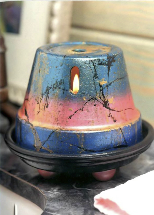 clay-pot-craft-ideas-candle-holder-home-decor