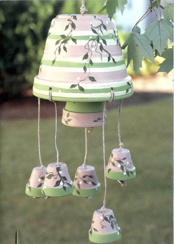 clay pot craft ideas diy-wind-chime-garden-decor
