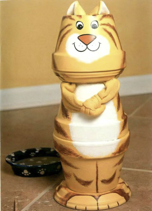 clay-pot-craft-ideas-home-garden-cat-figure