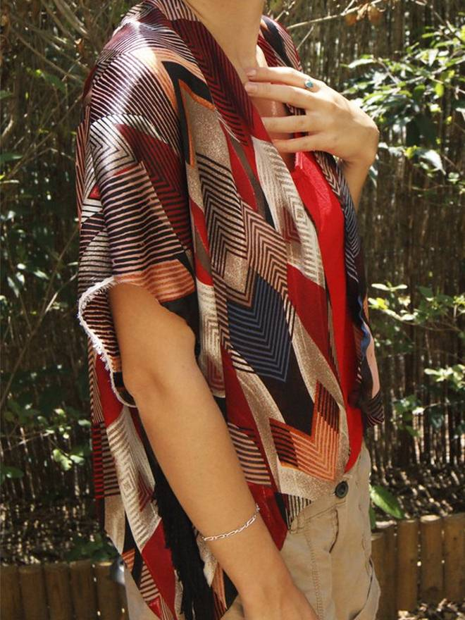 DIY summer clothes ideas kimono-jacket-aztec-pattern