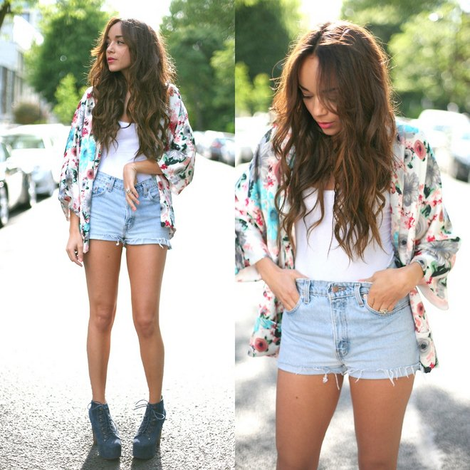 how-to-wear-kimono-jacket-summer-outfit-jeans-shorts