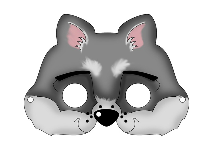 chicldrens-mask-template-animal-grey-racoon
