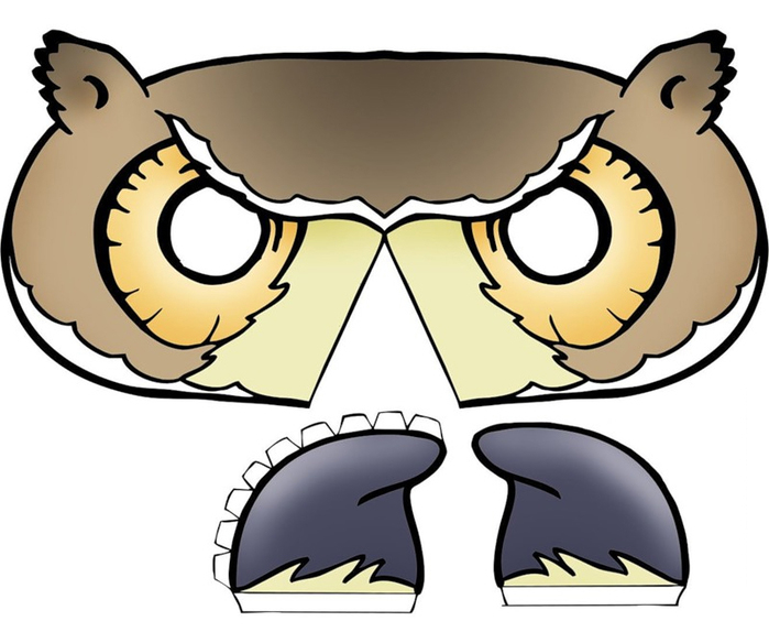 childrens-mask-template-bird-3d-beak-owl