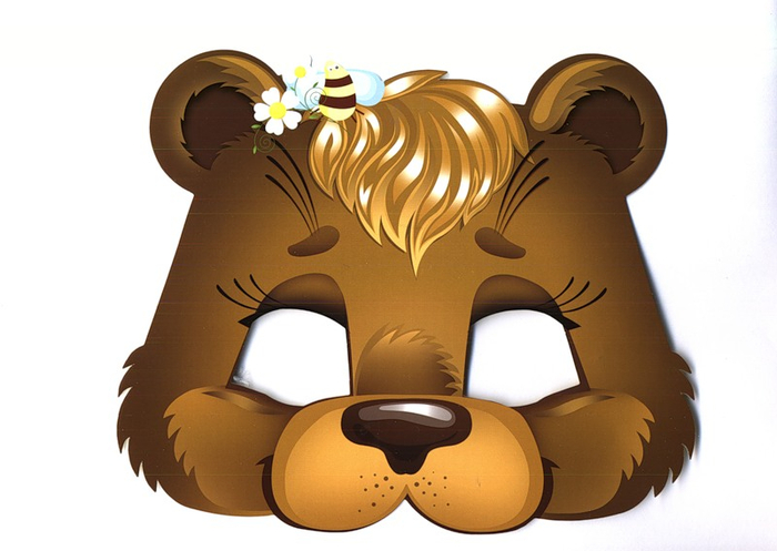 kids-face-masks-template-animals-brown-bear-print