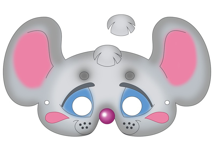 64 free kids face masks templates for halloween to print for Mouse mask template printable
