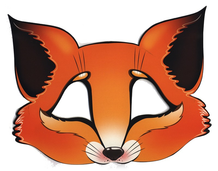 Fan image regarding printable fox mask