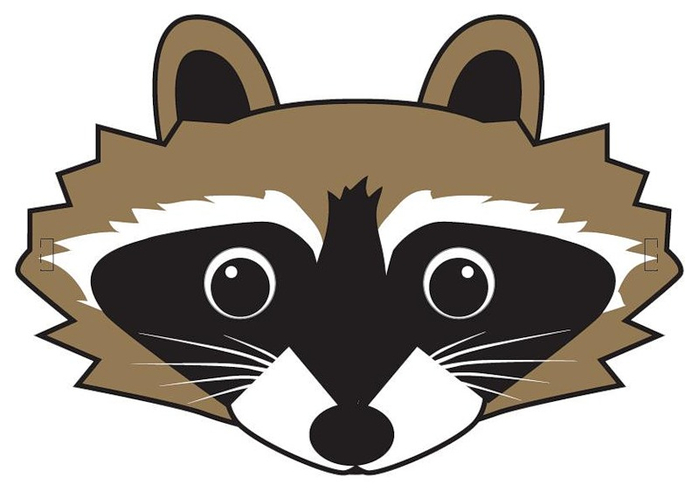 kids-face-masks-template-animals-racoon