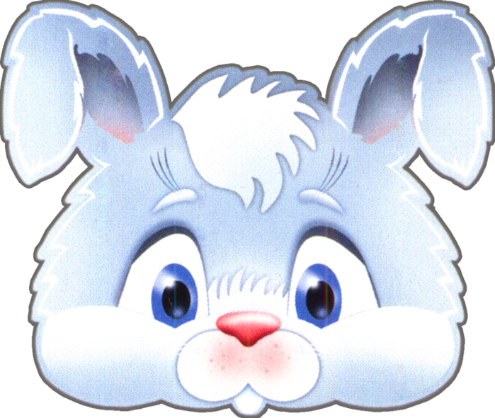 kids-face-masks-template-animals-white-rabbit