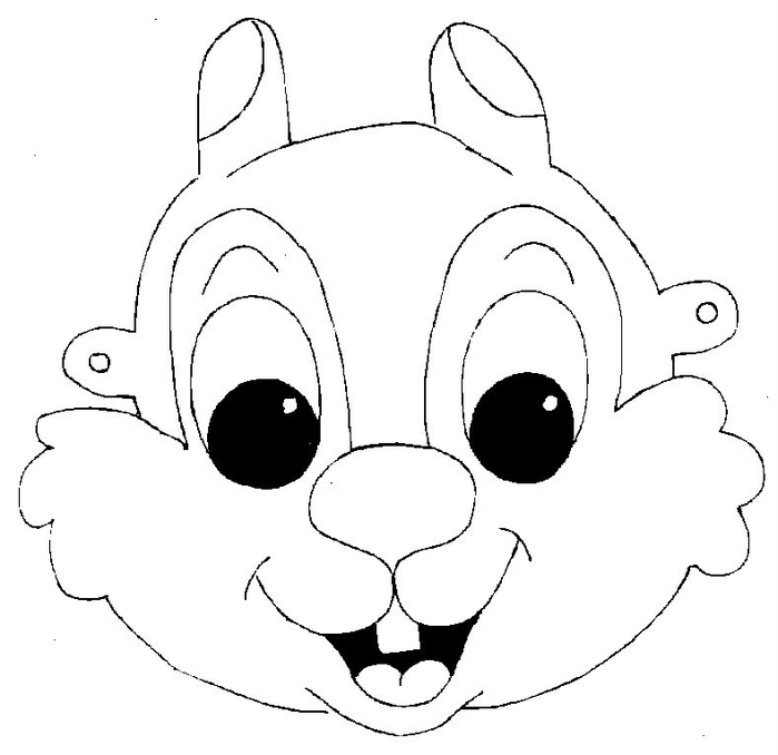 Kids Face Masks Template For Coloring Squirrel Boy   Face Masks Templates