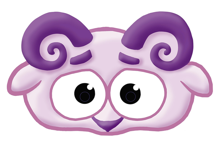 kids-mask-template-animals-purple-sheep