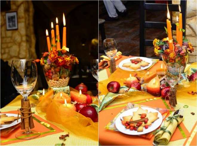 thanksgiving-table-decorations-setting-candles-fruits-nuts-centerpiece