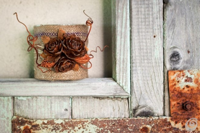Make easy fall decorations for home by using fruit pits for Homemade fall decorations for home