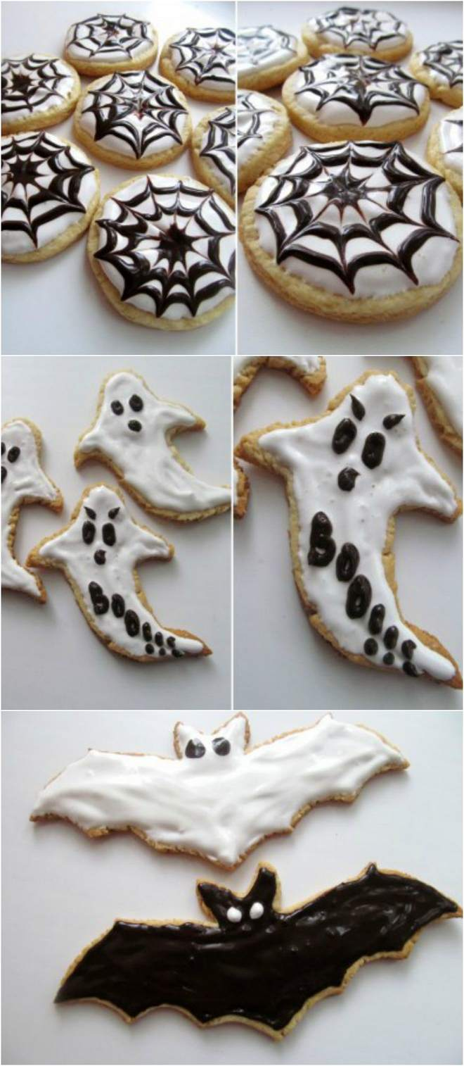halloween-baking-ideas-ghosts-bats-cookies-frosting