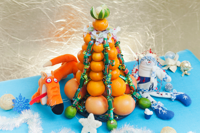citrus table centerpiece diy christmas tree kids decor idea